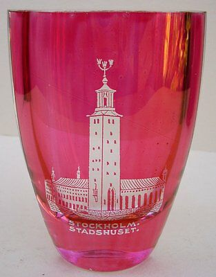 Scandinavian Stockholm Stadshuset Thick Art-Glass Vase