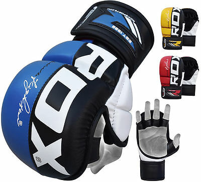 RDX MMA Gants Entrainement Arts Martiaux Kickboxing Sparring Cuir Grappling FR