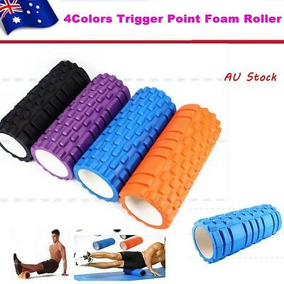 Trigger Point Grid Foam Roller Exercise Balance Physio Muscle Massage Yoga Sport