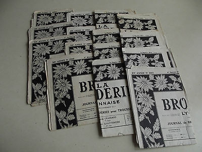 CHOICE OF ONE VINTAGE FRENCH EMBROIDERY MONOGRAM MAGAZINE LA BRODERIE FROM 1950s