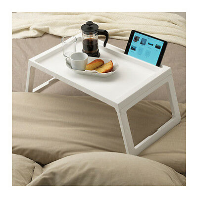 IKEA KLIPSK Plastic Breakfast Food Serving Serve Bed Tray Table w/ iPad Holder