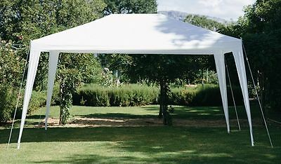 3x3/3x4m White Gazebo Canopy Marquee Outdoor Waterproof Awning Garden Party Tent