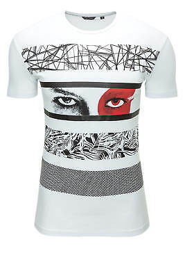 NEU Antony Morato Herren T-Shirt Print-Shirt Basic Shirt Top O-Neck Slim Fit - %