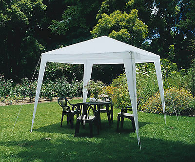 3x3m White Gazebo Canopy Marquee Outdoor Waterproof Awning Garden Party Tent PE