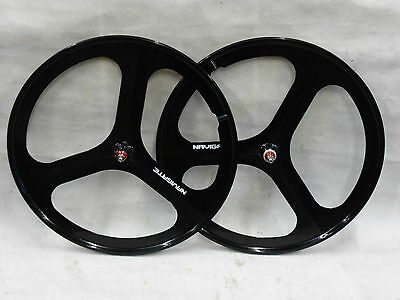 3 Spoke 700c Fixie / Single Speed Road Bike Wheel Front or rear Black