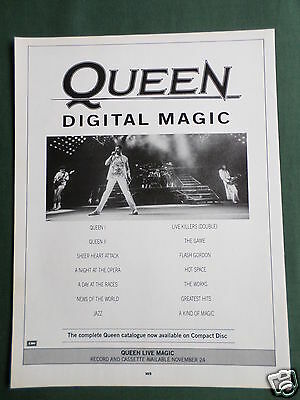 Queen - Magazine Clipping / Cutting- 1 Page Advert