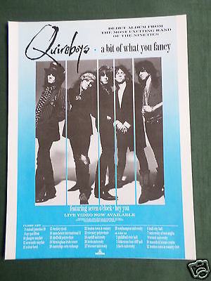 Quireboys - Magazine Clipping / Cutting- 1 Page Advert