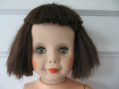 "Vintage Playpal Companion Doll With Brown Hair ""as Is"""