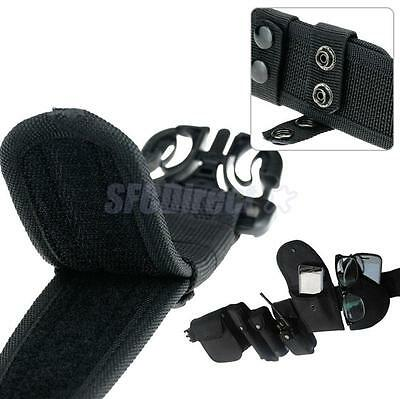 Tactical Heavy duty Security Guard Rescue Army Rigger Utility Belt Black