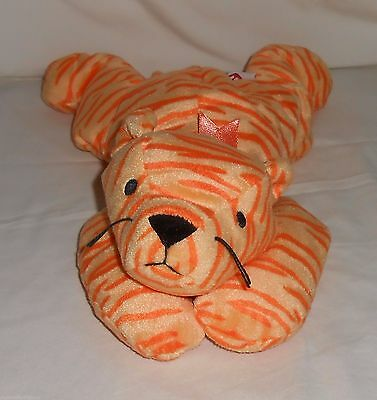 """1996 Retired TY 14"""" Plush Pillow Pal Tiger """"Purr"""""""