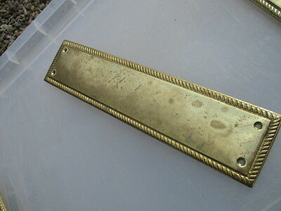 Vintage Brass Finger Plate Push Door Handle Architectural Salvage Georgian Style