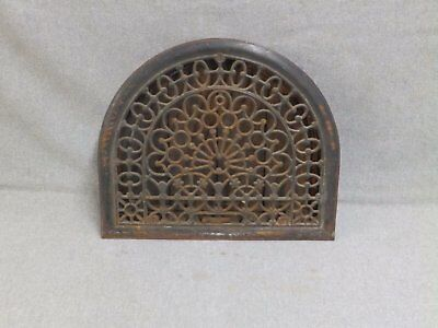 Antique Cast Iron Arch Top Dome Heat Grate Wall Register Old Vintage 580-16