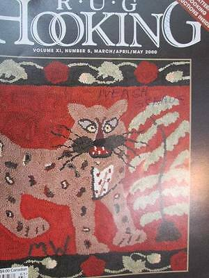 Rug Hooking Magazine March April May 2000 Applique Flower Basket Free Pattern/In