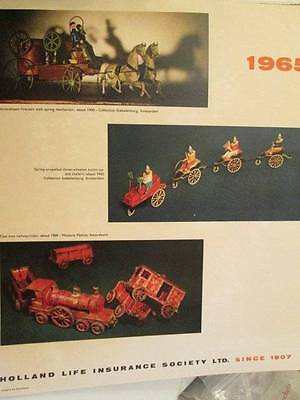 1965 Holland Life Insurance Antique Toy Calendar