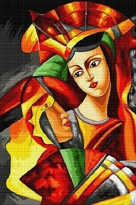 Hudemas Picasso Needlepoint Canvas #376-25x40 cm (9.75x15.75 Inches)