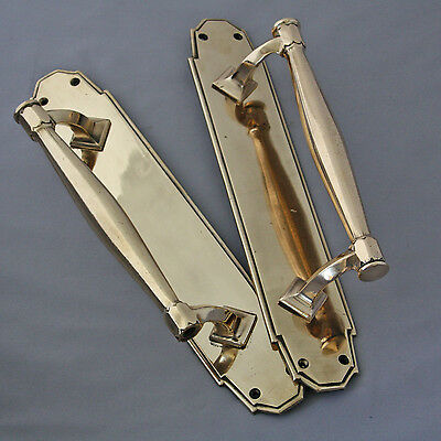 Pair Brass Antique Door Pull Handles