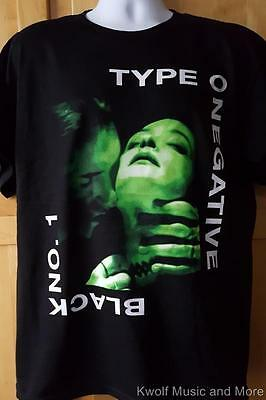 """TYPE O NEGATIVE T-Shirt """"Black No. 1""""  Front and Back  M, L, XL,XXL Official NEW"""