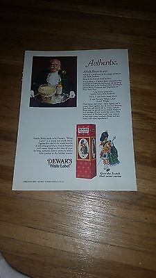"1971  Dewar's White Label Scotch Vintage Magazine Ad ""Authentic"""