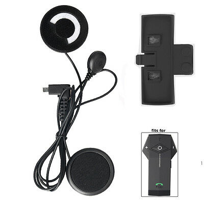 Bluetooth Intercom COLO Soft Headset Wired Mic/Speaker+Clip fit Full Face Helmet
