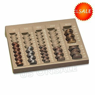 Precise Coin Counting Counter Change Tray Money Holder Case Retailer Bussiness