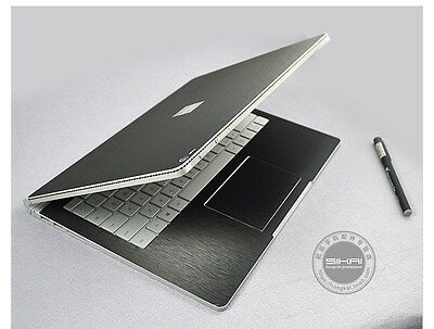 For Microsoft Surface Book Silver Full Body Protective Skin Cover Decal Sticker