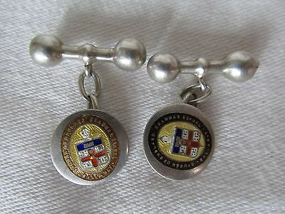 Vintage Sterling Silver Ballarat Church of England Grammar School Cufflinks
