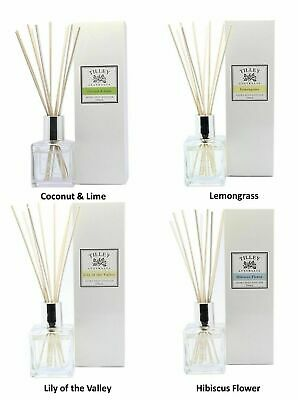 2 X TILLEY 150ml Aroma Reed Diffusers - 19 of Choose Fragrance Home Bathroom