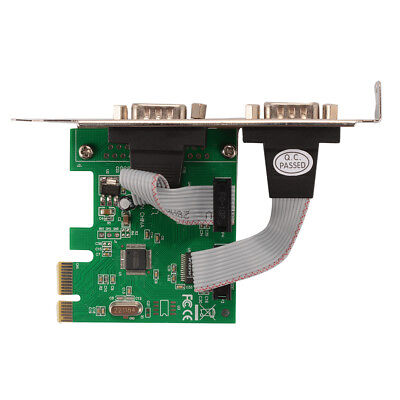 PCI Express PCI-E 2-Port Serial RS-232 COM DB9 Card Adapter Converter AC332