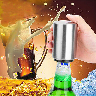 Fashion Bottle Automatic Bottle Opener Stainless Steel Beer and Soda Opener