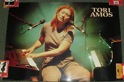 """1999 Vintage Playing Piano Poster *tori Amos* 24X34"""" Wh23 Great Cond!! M"""