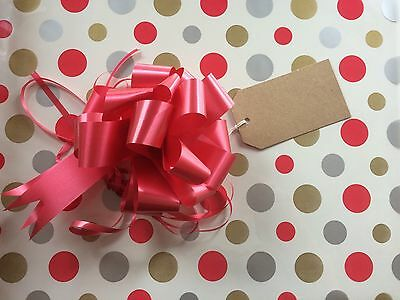 Cellophane gift wrap 2m x 80 cm - Christmas Male Birthday FREE PULL BOW & CARD