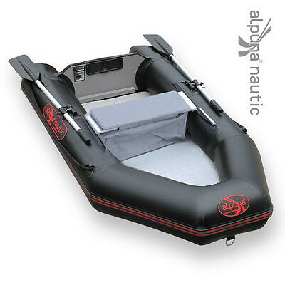 ALPUNA nautic IBT 230 AIR black Rubber dinghy with Airmate Fishing boat Rowing