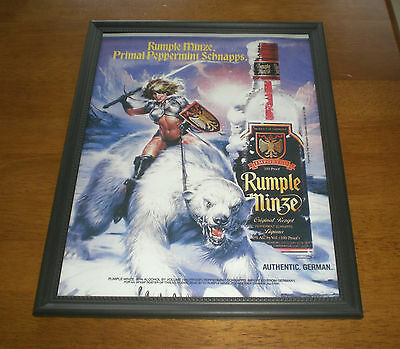Rumple Minze Peppermint Schnapps Framed Color Ad Print