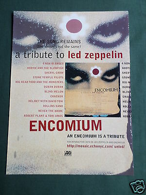 Led Zeppelin - Magazine Clipping / Cutting- 1 Page Advert - #1