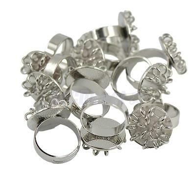 10pcs Adjustable Jewelry Findings 15 loops Ring Bases Blanks Jewelry Making