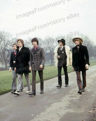8x10 Print The Rolling Stones Mick Jagger Brian Jones #STO