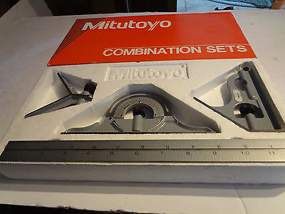 """MITUTOYO 4 Piece Combination Square Set - Model: 180-905 Blade Length: 12"""""""