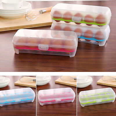 Hot 1Pc Useful Holder Box For Fridge & Freezer Tool 10 Grids Egg Storage Case