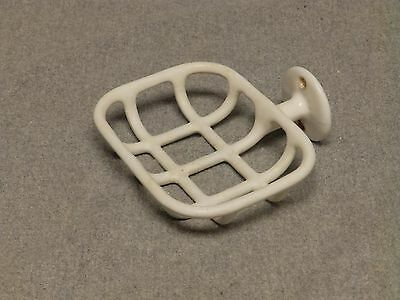 Antique Cast Iron White Porcelain Wall Mount Soap Dish Basket Old Vtg 602-16