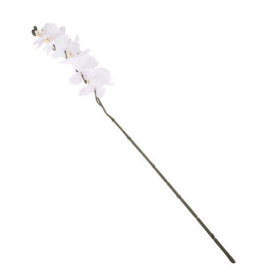 12 Heads Wedding Home Decor Artificial Phalaenopsis Fake Orchid Flower White
