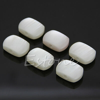 6 White Set Replacement Acrylic GUITAR TUNERS TUNING PEGS MACHINE HEADS BUTTONS