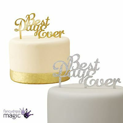 Ginger Ray Acrylic Best Day Ever Wedding Engagement Bride Cake Topper Decoration