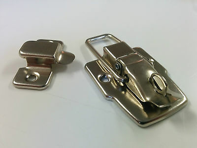 10 - Nickel Plated Tool Box Latch Clasp Suitcase Toggle 45mm x 75mm LOT OF 10