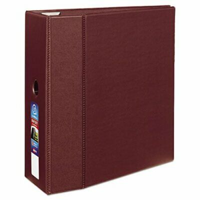 "Avery Heavy-Duty Binder with One Touch EZD Rings, 5"" Capacity, Maroon (AVE79366)"