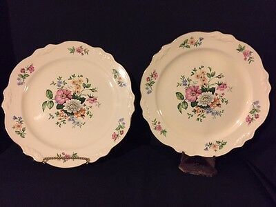 "Homer Laughlin 9 1/2"" dinner plates SPRINGTIME PATTERN"