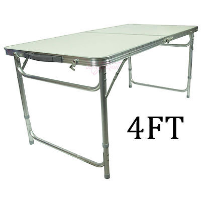 4Ft Folding Trestle Table Market Stall Fair Trade Shows Display Foldable