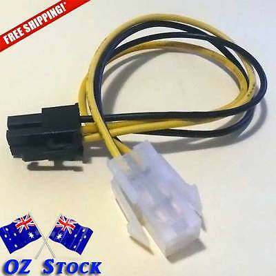 Quality 4Pin ATX 12v 20CM Power Extension Cable Adapter for Motherboards ozStock