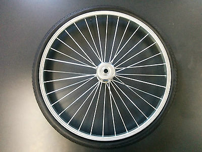 "26"" Cart Tire Complete with Rim, Tire and Tube 3/4"" Shaft Pneumatic"