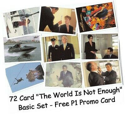 James Bond Classics 2016: 72 Card The World Is Not Enough Basic/Base Set Free P1