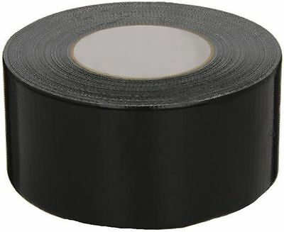 Black Fabric Extra Sticky Tape 50m x 48mm Roll Fibre Duck Duct Waterproof Cloth